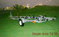 BOAT TRAILER ROLLER TYPE 24-29 FT SINGLE AXLE