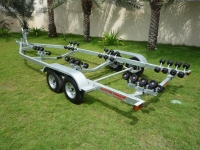 BOAT TRAILER ROLLER TYPE 29-32 FT DOUBLE AXLE